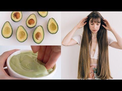 DIY AVOCADO HAIR MASK! healthy hair naturally - YouTube