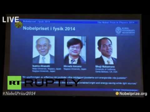 Sweden: Nobel Prize in Physics goes to Japanese team for low-energy LED light