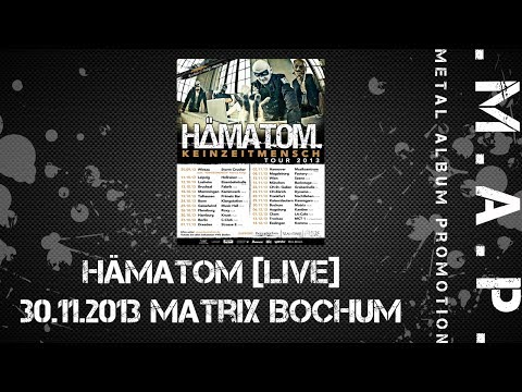 https://www.facebook.com/metalap Keinzeitmensch Tour 2013 30.11.2013 Matrix Bochum Song: Ahoi Album: Keinzeitmensch Interpret: Hämatom Jahr 2013 Song: Sing A...