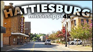CITY DRIVE OF HATTIESBURG IN 4K - USA