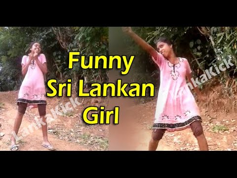 Funny Sri Lankan Girl Singing