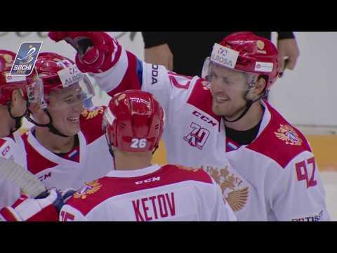 Чудо-гол на Sochi Hockey Open: Максим Чудинов забил броском из зоны защиты / fantastic goal Chudinov