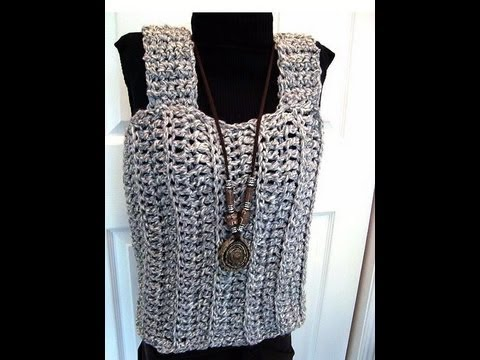 Free Crochet Toddler Tank Top Pattern : HOW TO CROCHET A TANK TOP, free crochet pattern, women ...
