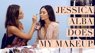 Jessica Alba Does My Makeup!!!