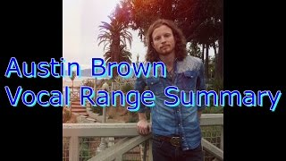Austin Brown Vocal Range Summary (E♭1 - C6) (By Axel Fuentes)