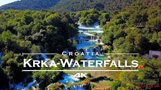 KRKA Waterfalls / National Park, Croatia - by drone [4K]