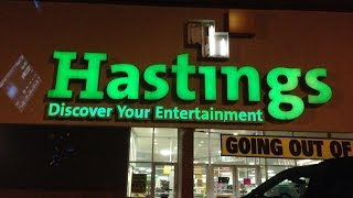 Hastings entertainment closing down October 31st!