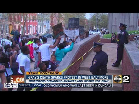 Freddie Gray's death sparks protests in Baltimore