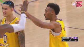 The Spurs And Lakers Go All The Way Down To The Wire In OT   October 22, 2018