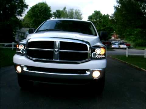 Projector. Halo Headlights 06 3500 Dodge Ram