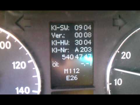Mercedes Benz Reading >> Mercedes Benz Secret Menu: turn off ESP, get oil level reading & battery voltage - YouTube