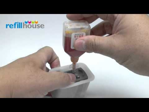 How to refill Canon CL-41, CL-51 Inkjet Cartridge - Auto-Refill System