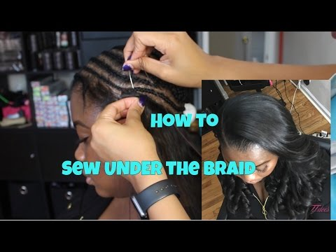 How to sew UNDER the braid (Sew in)