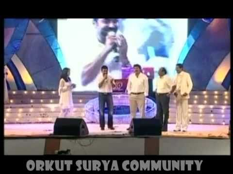 Surya receives award from Mammootty