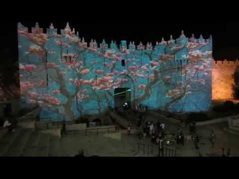 Jerusalem Festival of Light 2013 - Tree of Life - Damascus Gate
