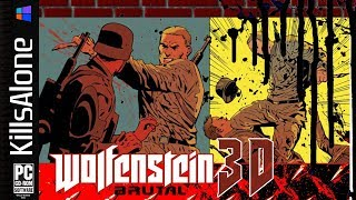 Brutal Wolfenstein 3D v5 Demo ✠ Escape from Wolfenstein: Floor 1-1 & 1-0