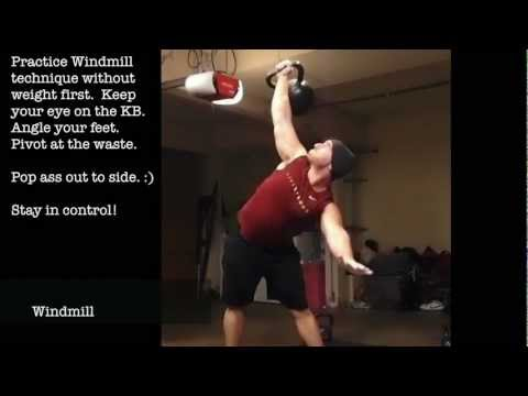 Heavy Kettlebell Complex 90 LB / 41 KG- Clean, Press, Windmill, Turkish Get Up Image 1