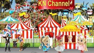 Đồ chơi trẻ em BÚP BÊ KN Channel ĐI CÔNG VIÊN TRÒ CHƠI tập 1 | CHƠI ĐẤM BỐC