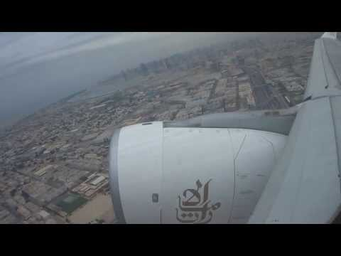 Emirates Airbus A330 take off from DXB Dubai International airport