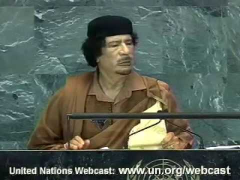 UN speech September 23,2009 Al-Qadhafi part ten
