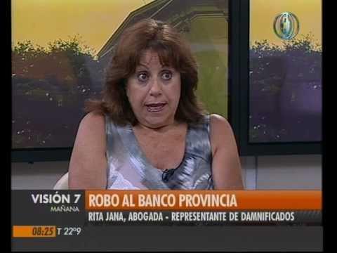 Visión Siete: Robo al banco Provincia