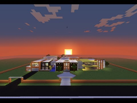 Minecraft casa moderna gigante descarga download youtube for Casa moderna minecraft 0 10 4