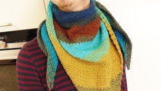Wolle im Test   Lion Brand Mandala Wolle   Einfachen Schal häkeln mit Farbeffekt   Anleitung