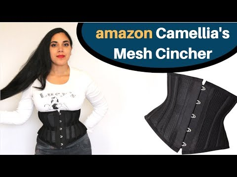 Camellia's Corsets (Amazon) Mesh Cincher / Waspie Review   Lucy's Corsetry
