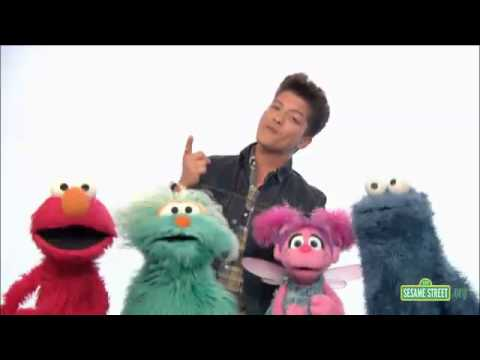 Bruno Mars On Sesame Street Don't Give Up video