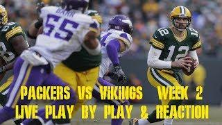 Packers vs Vikings Week 2 Live Play by Play & Reaction