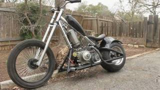 Jesse James chopper bicycle into mini chopper! update, aux gas tank and air filter.