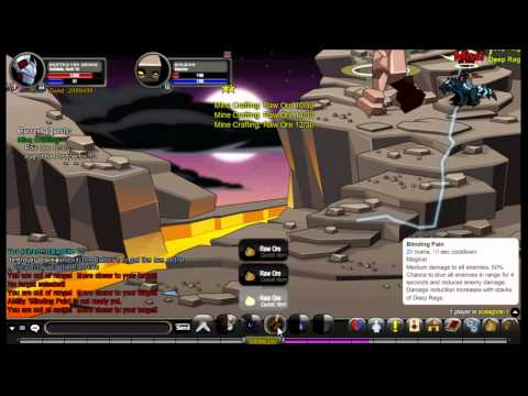 AQW Blinding Light Of Destiny Quest Chain Part 6- Mine Crafting