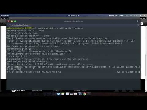 Install Spotify Client in Linux elementaryOS Loki 0.4.1