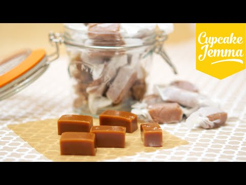 How to make Chewy Salted Caramels | Cupcake Jemma