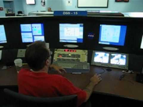 Talking to the antenna operator at the NASA Goldstone DSN facility