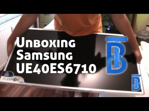 Samsung UE40ES6710 LED 3D TV Unboxing [German/Deutsch]