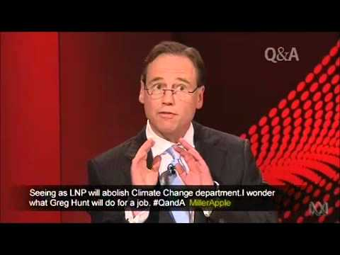 Shadow Env Minister Greg Hunt on his thesis
