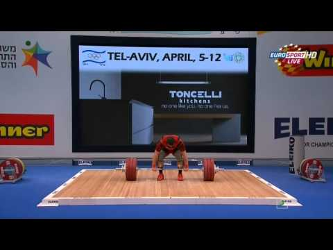 2014 European Weightlifting Championships Men's 85 kg Clean & Jerk Tel Aviv , Israel