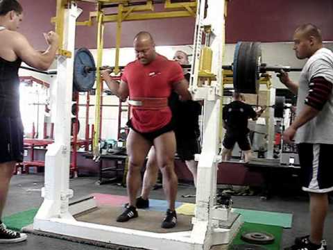 Eric Lilliebridge- Meet squat training 740 x 5 raw w/ wraps PR Image 1