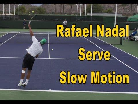 Rafael Nadal Serve Slow Motion - BNP Paribas Open 2013