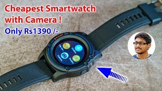 Cheapest Smartwatch with Camera... Only 1390 Rs !!
