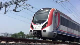 Marmaray Train Set Hyundai Rotem E32000 (Shot on iPhone 6)