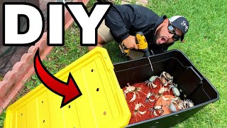 HOMEMADE *DIY* GIANT MUD CRAB TERRARIUM AQUARIUM!