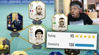 PLAYING WITH WROETOSHAW FIFA 19 ULTIMATE TEAM **BEST TEAM EVER**