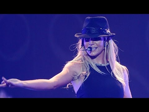 Britney Spears Falls On-Stage During Vegas Show