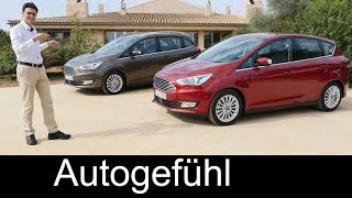 2016 Ford C-MAX vs Grand C-MAX new Facelift MPV FULL REVIEW test driven - Autogefühl