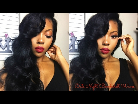 Date Night Bombshell Waves Hair Tutorial!