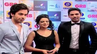 Dhruv and Thapki aka Ankit and Jigyasa of Thapki Pyar Ki at ITA Awards
