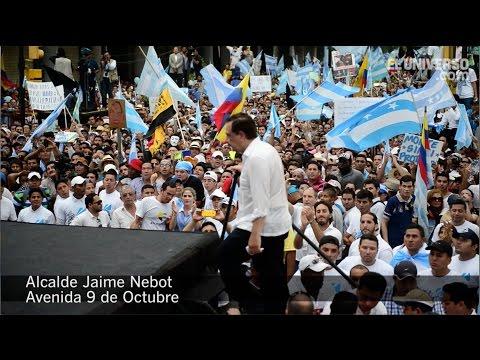Jaime Nebot: ¿Ustedes quieren el país que nos propone (Rafael) Correa?