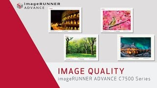 Image Quality - imageRUNNER ADVANCE C7500 Series